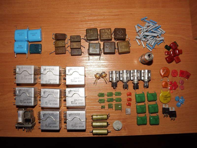 Диоды, микросхемы, транзисторы, конденсаторы, с высоким содержанием серебра, золота, платины.