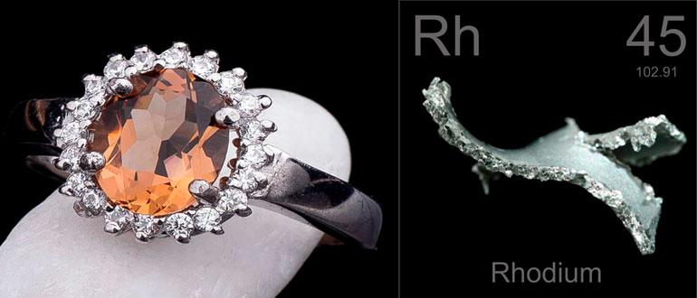 Родированное серебро