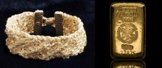 Антология отличий золота от позолоченного серебра